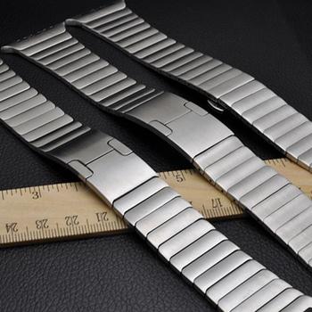 Ogniwo ze stali nierdzewnej bransoletka dla Apple Watch seria 44 40mm 6 SE 5 4 iWatch 42 38mm 3 2 wysokiej jakości regulowany pasek Gen 6th tanie i dobre opinie samusak CN (pochodzenie) Other Od zegarków STAINLESS STEEL Nowy bez tagów Band For Apple Watch Butterfly Buckle