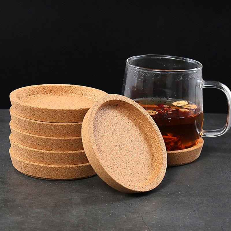 10 Pcs Soft Coasters Wooden Cup Pods <font><b>Coffee</b></font> Drink Teacup Mat <font><b>Table</b></font> Decoration for Home Kitchen <font><b>Cafe</b></font> image