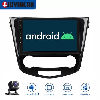JOYINCAR Android 9.1 Car Radio GPS Navigation Multimedia Video Player for Nissan X-Trail Qashqai 2013 -2017 with Quad core wifi image