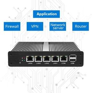 Image 5 - Soft Router Mini PC Intel Celeron J1900 N2830 4GB DDR3L RAM 60GB SSD 4*Gigabit Ethernet RJ45 Consel Firewall PFsense Appliance
