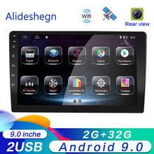 9 дюймов 2DIN Android 9,0 автомобильный DVD мультимедийный плеер стерео радио Bluetooth wifi Аудио Mirrorlink с AHD 1080P тыловая камера 2G ram