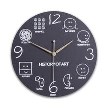 Math Equations and Notations Mathematics Chalkboard Geek Wall Educational Clock