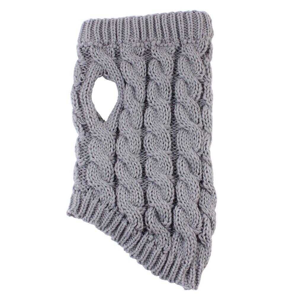 Вязаный свитер для собак, кошек, уличная спортивная серая Одежда для питомцев, Модное теплое пальто для щенков, котят, Осень-зима, товары для питомцев
