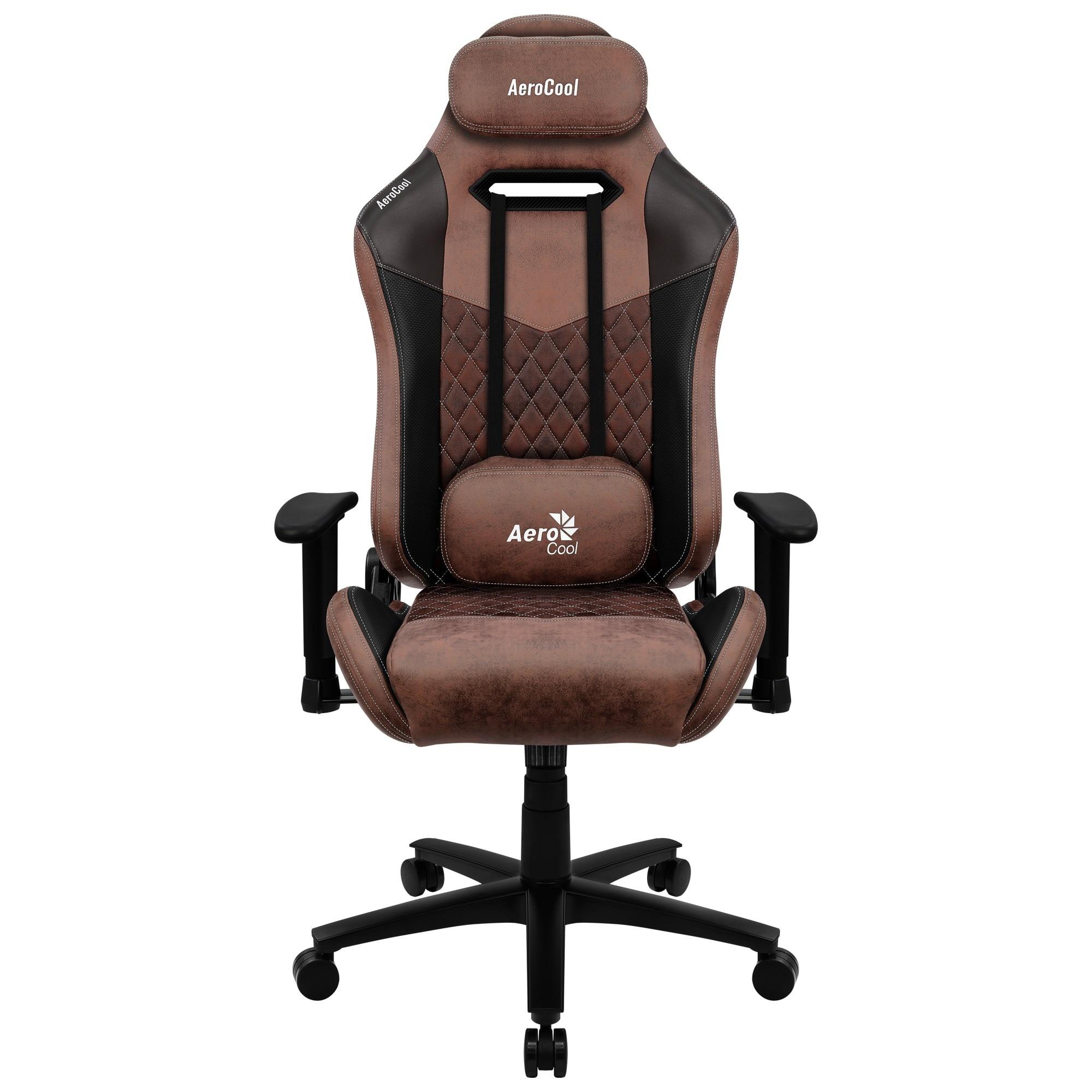 Aerocool DUKE, Gaming Chair, AeroSuede Breathable, Backstop Adjustable, Red
