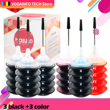 QSYRAINBOW 30ml Black For Canon For HP All Inkjet Printer Specialized Dye 4pcs/set