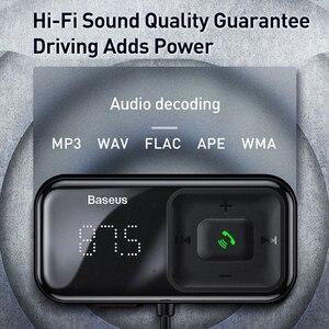 Image 4 - Baseus FM Modulator Transmitter Bluetooth 5,0 FM Radio 3,1 EINE USB Auto Ladegerät Car Kit Wireless Aux Audio FM transmiter