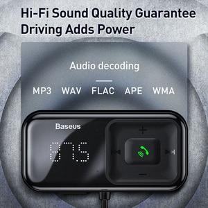 Image 4 - Baseus Fm Modulator Zender Bluetooth 5.0 Fm Radio 3.1A Usb Car Charger Handsfree Car Kit Wireless Aux Audio Fm Zender