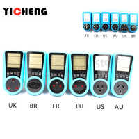 EU US UK BR AU FR Meter electricity monitoring electricity voltage power metering socket type mete watt meter power analyzer kwh