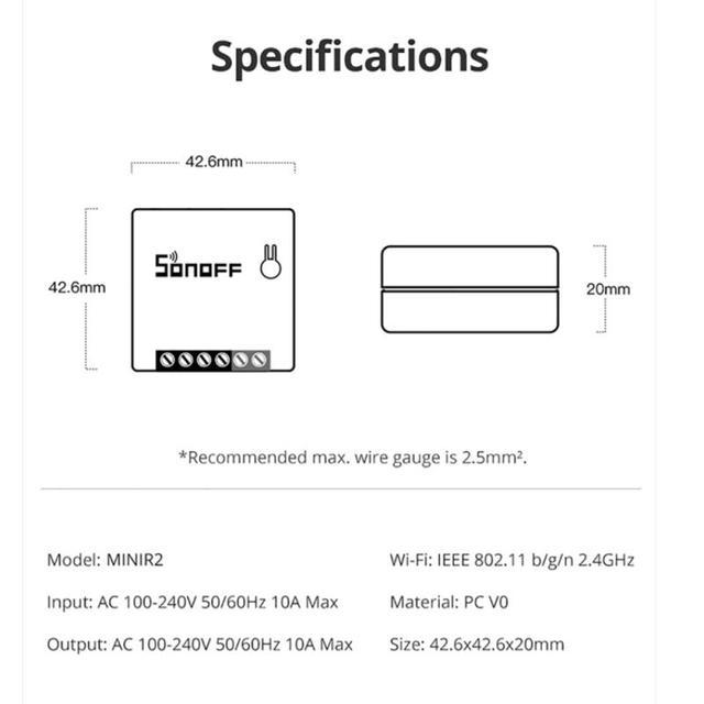 SONOFF Mini R2 Wifi Smart Switch 6