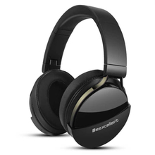 купить Bluetooth 5.0 Active Noise Cancelling Headphone Wireless Headset 40 Hours Playtime for Travel Work Over With Mic Super Deep Bass дешево