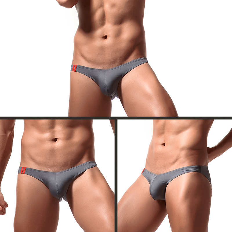 Summer Mens Ultra Thin Sissy Bulge Pouch Underwear Breathable Comfy Underpants