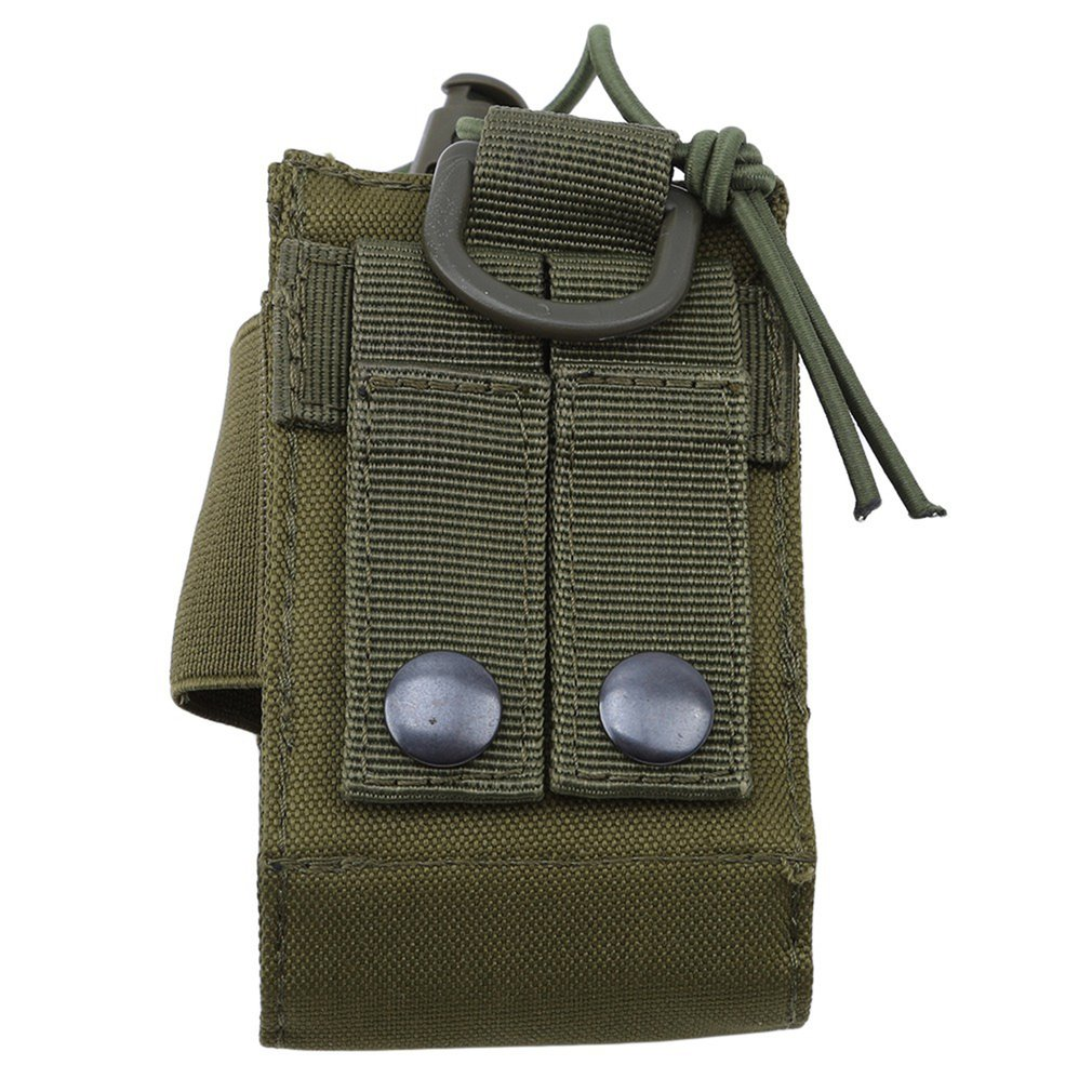 Green Camouflage Walkie-talkie Bag Outdoor Military Fan Accessory Bag Large Capacity Multifunctional Bag