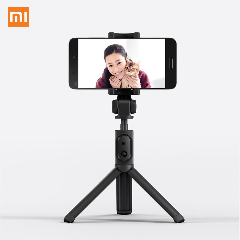 Original Xiaomi Foldable Tripod Monopod Selfie Stick Bluetooth With Wireless Button Shutter Selfie Stick For IOS/Android Phone