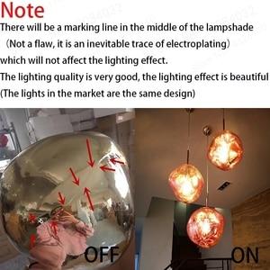 Image 5 - Bdbqbl北欧溶岩溶融ガラス玉のペンダントライトランプ現代ファンタジー魔法hanglampボール透明カフェレストランバー
