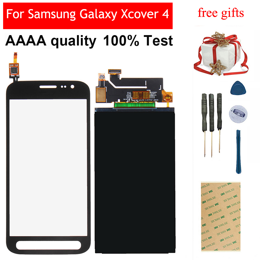 For Samsung Galaxy Xcover 4 SM-G390F G390 Touch Screen Digitizer Panel Glass + LCD Display Monitor Screen Panel