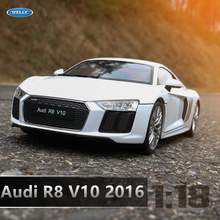 welly 1:18 Audi R8 V10  alloy car model simulation car decoration collection gift toy Die casting model boy toy цена