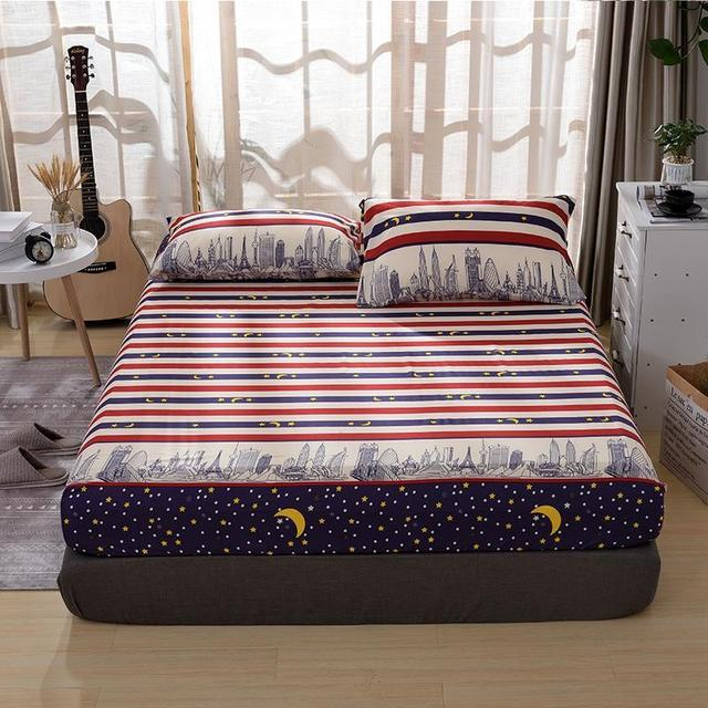 Elastic Rubber Band Bed Sheet Mattress Cover 1