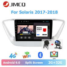 JMCQ 9 Car Radio Android 9.0 For Hyundai Solaris 2017-2018 Split Screen Multimedia Video Players Stereos 2 Din android players jmcq 9 car radio 2 din android 9 0 player for kia sportage 2016 2018 multimedia video players stereos split screen with canbus