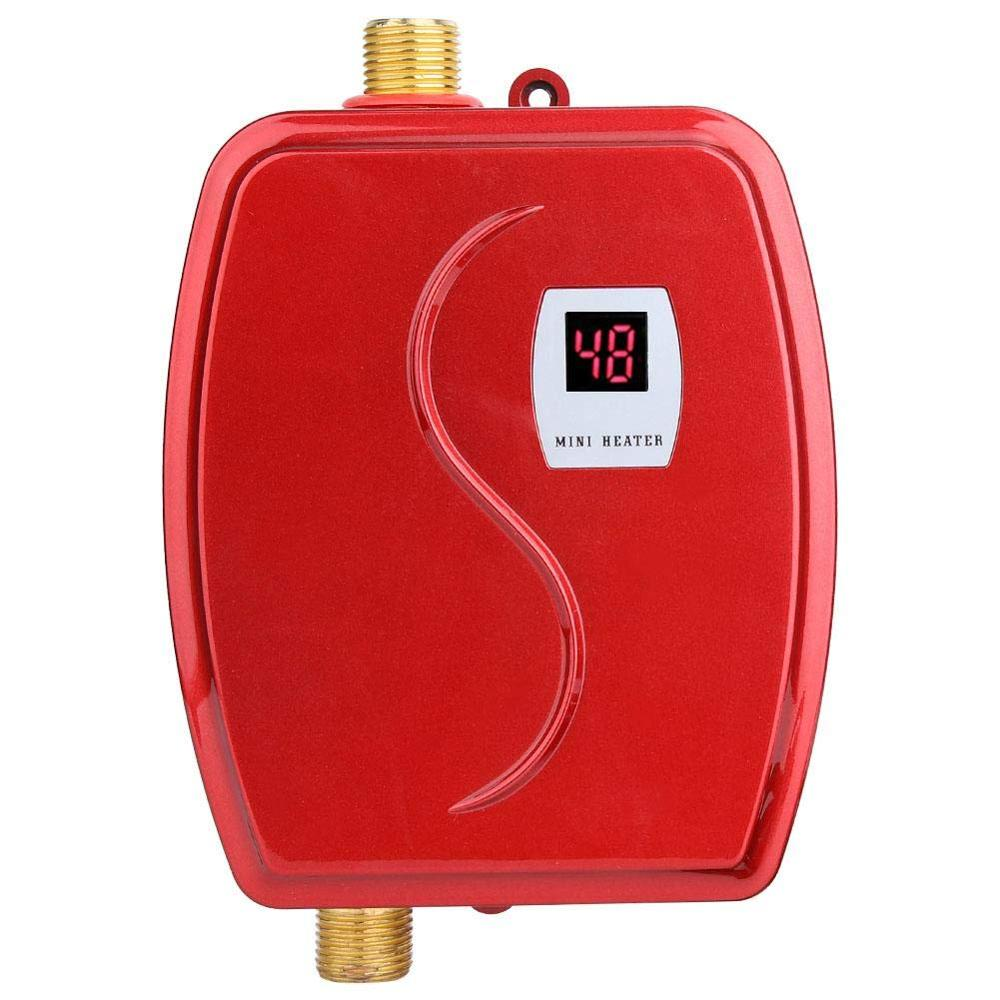 XY-FGA,3800W Mini Electric Water Heater Instant Heating LED Display Electric Hot Water Heater Leakage Protection Kitchen EU Plug