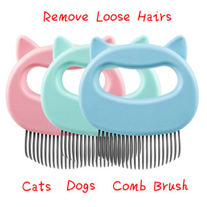 Dog Massage Comb Pet Massage Brush Shell Shaped Handle Pet Grooming Massage Tool To Remove Loose Hairs For Cat Dog Hair Combs