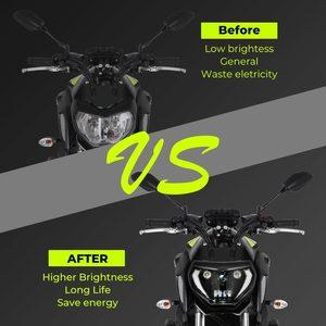 Image 2 - KEMiMOTO For YAMAHA MT07 2018 2019 MT07 MT09 LED Headlight Lamp MT09 FZ09 2014 2015 2016 Motorcycle Headlight DRL 110W