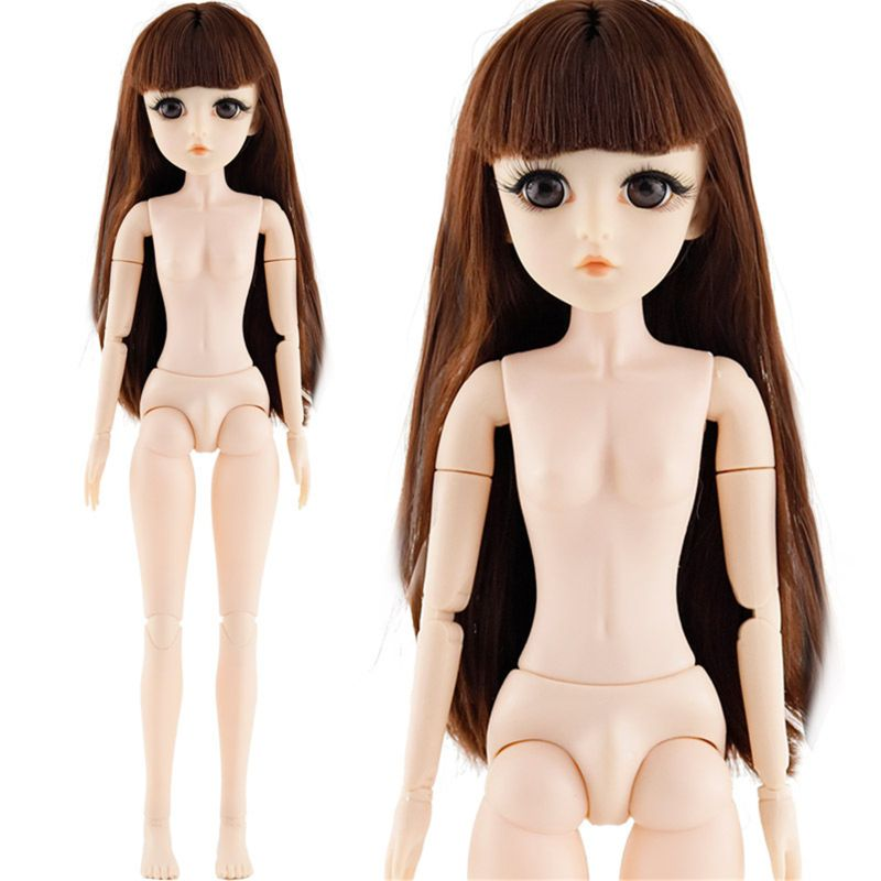 42 Cm <font><b>Bjd</b></font> Doll 24 Ball Jointed Doll DIY Naked Body Curly Straight Hair Girl's image