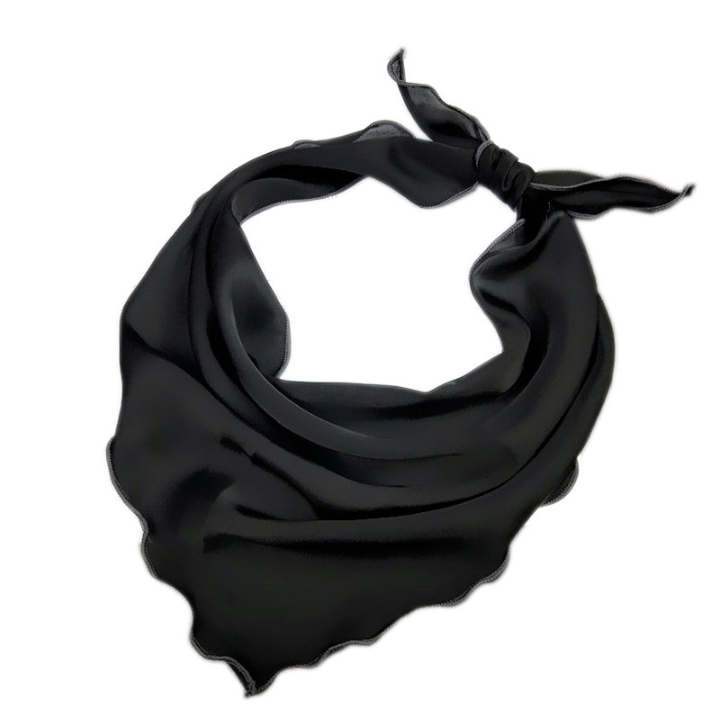Scarf Women New Solid Color Triangle Scarf Small Scarf Lady Wild Parent-child Headband Hair Band Small Scarf