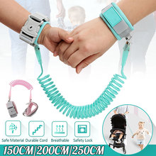 Anti Lost Wrist Link Add Key Lock Baby Walker Toddler Leash Safety Har