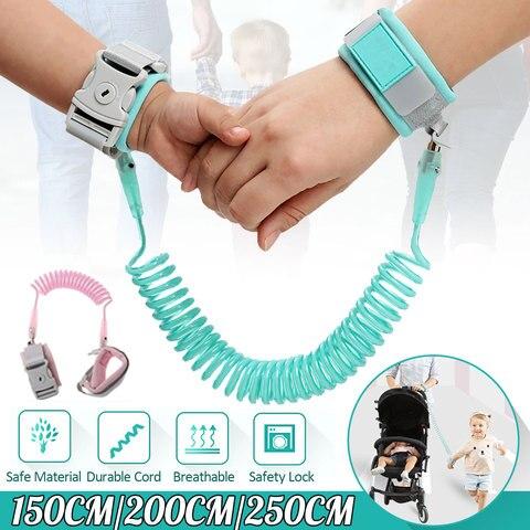 Anti Lost Wrist Link Add Key Lock Baby Walker Toddler Leash Safety Harness Baby Strap Wristband Adjustable Kid Walking Hand Belt Pakistan