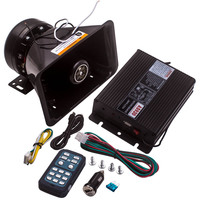 Electric Alarm Police Fire Warning 400W 8 Sound Horn Speaker For PA MIC System Remote MIC 12V
