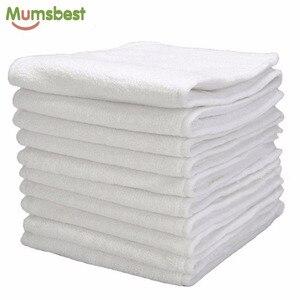 Image 1 - [Mumsbest] 10 Uds. De pañales de tela reutilizables lavables para bebés, encartes de microfibra de 3 capas