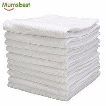 [Mumsbest] 10 قطعة قابل للغسل قابلة لإعادة الاستخدام حفاضات الطفل القماش الحفاض إدراج ستوكات 3 طبقات