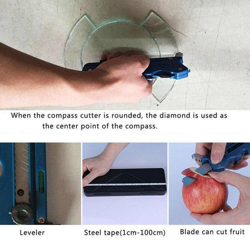 Multifunction Glass Tile Cutter Carbon Atoms Blades Ceramic Plastic Cutting Tool DIN889