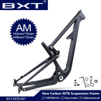 Full Suspension Bike Frame 29er BSA Carbon Fiber All Mountain Bike Frame 142*12mm 140mm Travel Bicycle Frameset 148*12mm Boost