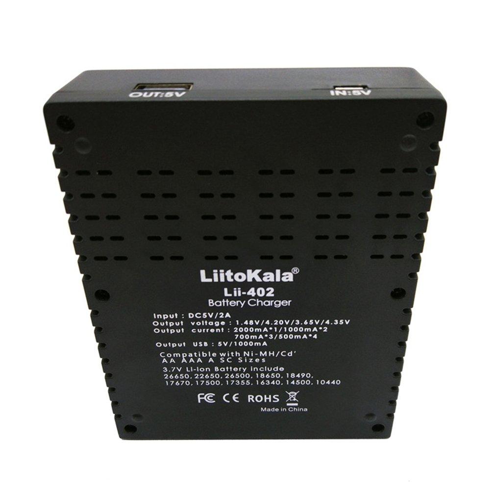 LiitoKala Universal Battery Charger 4 Slot Li-ion IMR 18650 26650 16340 Ni-MH//Cd