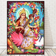 New 5D Diamond Embroidery Sale Religion Lord Lakshmi Full Square Diamond Painting Mosaic Cross Stitch Rhinestones Paint Pictures(China)