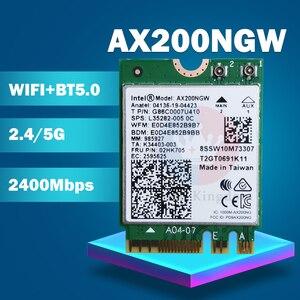Беспроводной адаптер NGFF AX200NGW для Intel wifi 6 AX200 2400 Мбит/с, сетевая карта 2,4G/5 ГГц 802.11ac/ax Wi-Fi Bluetooth 5,0