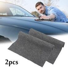 2pc carro scratch repair tool pano nano material pano pano de superfície para automóvel luz pintura raspadeira removedor scuff para acessórios do carro