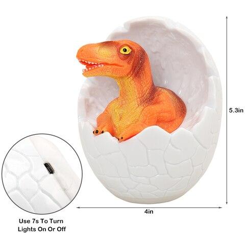 led night light 3d dinossauro 16 cores quarto