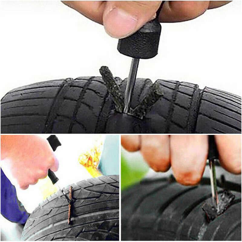 Ремонтный комплект с вилкой для проколов шин, 5 шт., бескамерная ремонтная полоса для автомобильных шин и мотоциклов