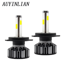 Lamp H4 led bulb H7 H11 Headlight Bulbs 4800LM 4 Sides and 360 Degree illumination 6000K White H8 55W Turbo h4 car headlight