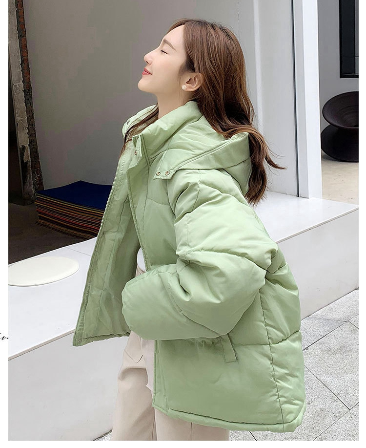 Fashion Short Winter Jacket Women Casual Warm Solid Hooded Parka Coat Office Lady 2020 New