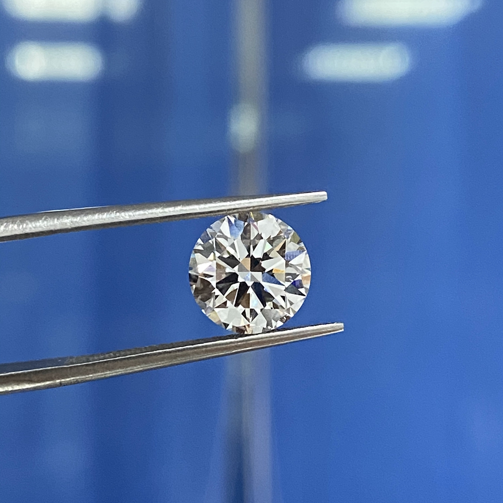 Pierre gemme en vrac synthétique cultivée en laboratoire très bonne qualité excellente coupe 6.5mm D VS 1 Carat CVD HPHT diamant pour bague 2