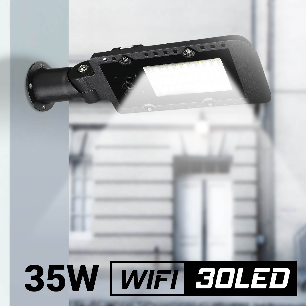 DC12V 35W Outdoor Lighting Waterproof IP65 LED Street Light with WiFi 1080P IP Camera Aluminium Alloy Garden Wall Lamp