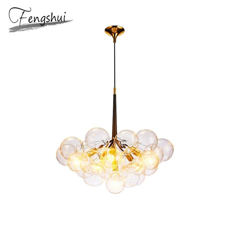 Modern Glass Pendant Lights Lamp LED Pendant Lighting Living Room Dining Room Bedroom Kitchen Loft Hanging Lamp Light Fixtures