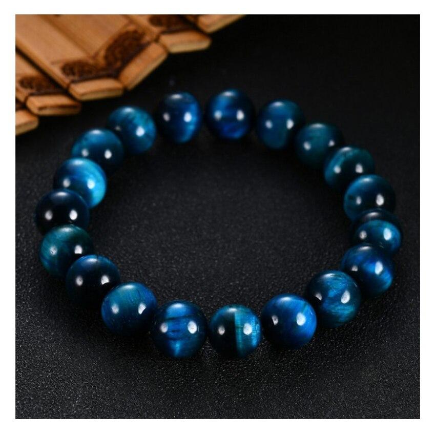 Nova chegada azul tigre olhos grânulos homme homens pulseiras charme natural pedra pulseira para mulheres artesanal unisex jóias