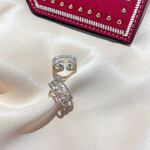 2020 Korean New Exquisite Simple Opening Ring Fashion Temperament Versatile Ring Elegant Ladies Banquet Jewelry