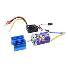 540 Brushed Motor and 45A ESC Set for 1/10 RC Buggy Truggy Monster Truck Crawler For 7.2V, 7.4V,11.1V Rechargable Battery(China)