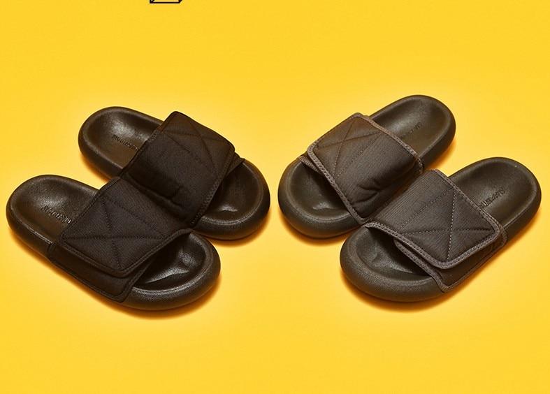 Kanye West Solid Season6 Style Slippers Man Summer Shoes  Slip-resistant Women Slide Sandals Summer Sandals Male Slippers