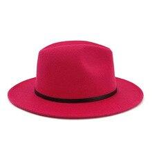 Зима осень Имитация шерсти для женщин и мужчин дамы Fedoras Топ джаз шляпа Европейский Американский круглый колпачок s удобная женская шапка